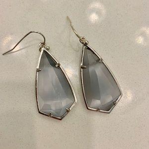 Kendra Scott Beautiful Grey Drop Earrings